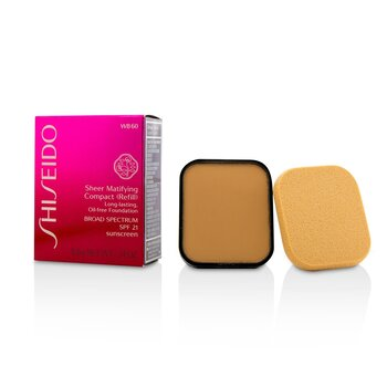 Shiseido Sheer Matifying Compact Oil Free SPF21 (Refill) - # WB60 Natural Deep Warm Beige  9.8g/0.34oz