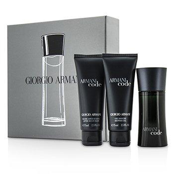 Giorgio Armani Armani Code Coffret: Eau De Toilette Spray 50ml/1.7oz + Pós Barba After Shave Balm 75ml/2.5oz + Gel de Banho Shower Gel 75ml/2.5oz  3pcs