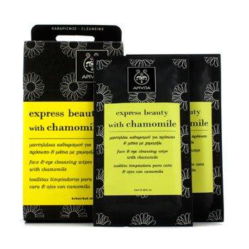 Apivita Express Beauty Face & Eye Cleansing Wipes with Chamomile - Pembersih Makeup  6x(5ml/0.16oz)