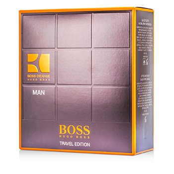 Hugo Boss Boss Orange Man Kofre: EDT Sprey 100ml/3.3oz + Tıraş Sonrası Balsamı 50ml/1.6oz + Duş Jeli 50ml/1.6oz  3pcs