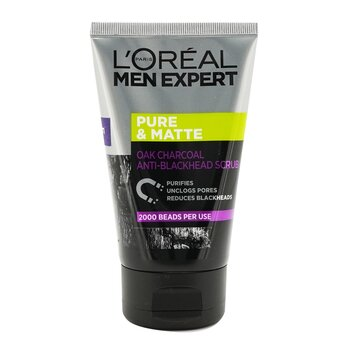 L'Oreal Men Expert Pure & Matte Charcoal Black Scrub  100ml/3.3oz