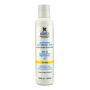 Kiehl's Activated Sun Protector Ultra Light Sunscreen SPF 50 (For Body)  150ml/5oz
