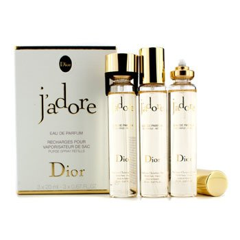 Christian Dior J'Adore Eau De Parfum Purse Spray Refills  3x20ml/0.67oz