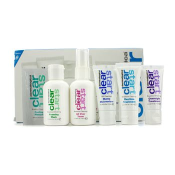 Dermalogica Clear Start Breakout Clearing Kit: Foaming Wash + Toner + Daytime Treatment + Moisturizer SPF 15 + Overnight Treatment  5pcs