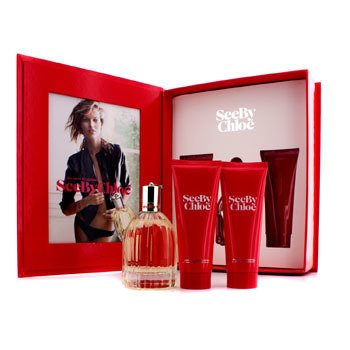Chloe See By Chloe Coffret: Eau De Parfum Spray 75ml/2.5oz + Loción Corporal 75ml/2.5oz + Gel de Ducha 75ml/2.5oz  3pcs