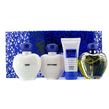 Moschino Toujour Glamour Coffret: Edt Spray 100ml/3.4oz + Loción Corporal 100ml/3.4oz + Gel de Ducha 100ml/3.4oz + Gel Corporal 50ml/1.7oz  4pcs