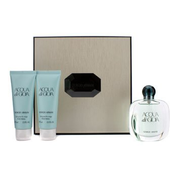 Giorgio Armani Acqua Di Gioia Coffret: Eau De Parfum Spray 50ml/1.7oz + 2x Body Lotion 75ml/2.5oz (Beige Box)  3pcs