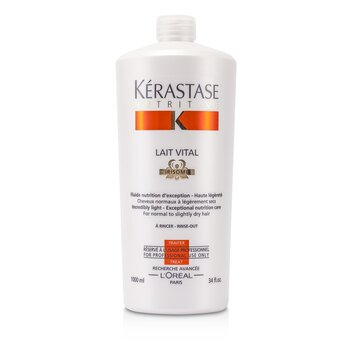 Kerastase Nutritive Lait Vital Incredibly Light - Exceptional Nutrition Care (For Normal to Slightly Dry Hair)  1000ml/34oz