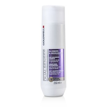 Goldwell Dual Senses Blondes & Highlights Șampon Anti-Nuanțe Arămii (Pentru Păr Blond Luminos și cu Șuvițe)  250ml/8.4oz