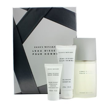 Issey Miyake Issey Miyake Coffret: Eau De Toilette Spray 75ml/2.5oz + Gel de Ducha 75ml/2.5oz + B�lsamo Para Despu�s de Afeitar 30ml/1oz  3pcs