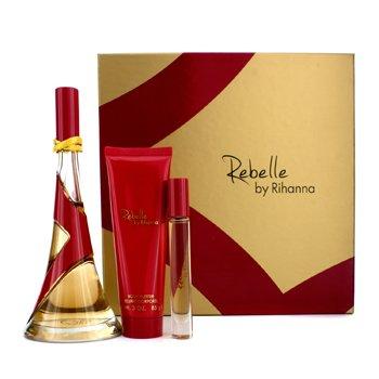 Rihanna Bộ Rebelle: EDP 100ml/3.4oz + Bơ Dưỡng Thể 85g/3oz + Nước hoa lăn 6ml/0.2oz  3pcs