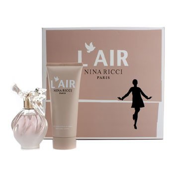 Nina Ricci L'Air Coffret: Eau De Parfum Spray 50ml/1.7oz + Silky Body Lotion 100ml/3.4oz  2pcs