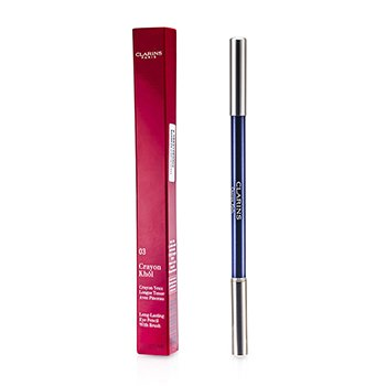 Clarins Długotrwała kredka do oczu z pędzelkiem Long Lasting Eye Pencil with Brush - # 03 Intense Blue  1.05g/0.037oz