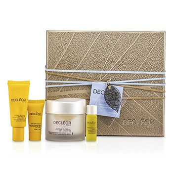 Decleor Kit Hidratante Treasure Trove: Hydra Floral Moisturising Cream 50ml + Eye Cream 15ml + Serum 5ml + Night Balm 2.5ml  4pcs