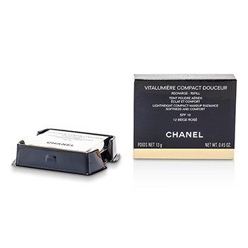 Chanel Podklad w kompakcie z ochronnym filtrem Vitalumiere Compact Douceur Lightweight Cpt MU SPF10 (wkład) - # 12 Beige Rose  13g/0.45oz