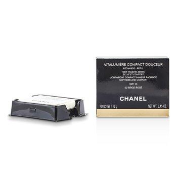 Chanel Vitalumiere Compact Douceur Maquillaje Compacto Ligero SPF 10 (Repuesto) - # 22 Beige Rose  13g/0.45oz