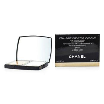 Chanel Podkład w kompakcie z ochronnym filtrem Vitalumiere Compact Douceur Lightweight Compact Makeup SPF 10 - # 32 Beige Rose  13g/0.45oz
