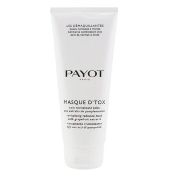 Payot Oczyszczająca maseczka do twarzy dla skóry normalnej po mieszaną Les Demaquillantes Masque D'Tox Detoxifying Radiance Mask - For Normal To Combination Skins (duża pojemność)  200ml/6.7oz