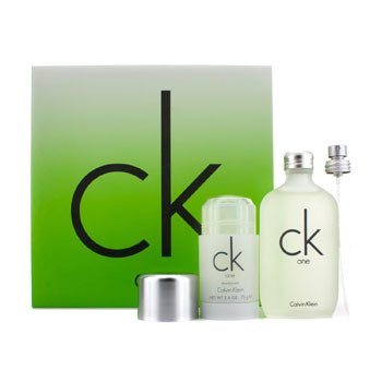 Calvin Klein CK One Coffret: Eau De Toilette Spray 100ml/3.4oz + Desodorante en Barra 75g/2.6oz  2pcs