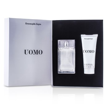 Ermenegildo Zegna Uomo Coffret: Eau De Toilette Spray 50ml/1.7oz + Jab�n de Cabello & Cuerpo 100ml/3.4oz  2pcs