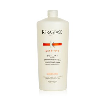 Kerastase Shampoo Nutritive Bain Satin 1 Exceptional Nutrition (Para Cabelo Normal á Pouco Seco)  1000ml/34oz