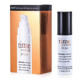 Philosophy Time In A bottle For Eyes (Serum Anti-Envelhecimento Para Olhos)  15ml/0.5oz