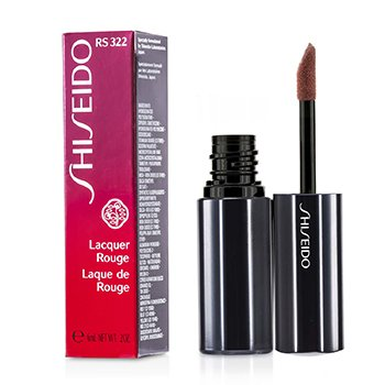 Shiseido Lacquer Rouge Pintalabios - # RS322 (Metalrose)  6ml/0.2oz