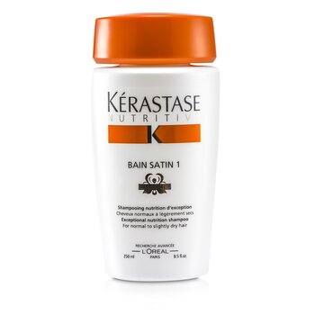 Kerastase Nutritive Bain Satin 1 Exceptional Nutrition Shampoo (P/ cabelo normal e seco)  250ml/8.5oz