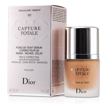 Christian Dior Capture Totale Üçlü Düzeltici Serum Fondöten SPF 25 - # 022 Cameo  30ml/1oz