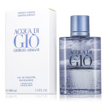 Giorgio Armani Acqua Di Gio Eau De Toilette Spray (Edici�n Limitada Blue)  100ml/3.4oz