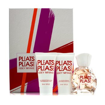 Issey Miyake Pleats Please Coffret: Edt Spray 50ml/1.6oz + Moisturizing Body Lotion 50ml/1.6oz + Moisturizing Shower Gel 50ml/1.6oz  3pcs