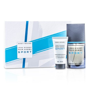 Issey Miyake L'Eau d'Issey Pour Homme Sport Coffret: Edt Spray 50ml/1.6oz + Champú Para Todo 50ml/1.6oz + Bolso  2pcs+Bag