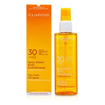 Clarins Sun Care Oil Spray SPF 30 Alta Prote��o Para Corpo & Cabelos  150ml/5oz