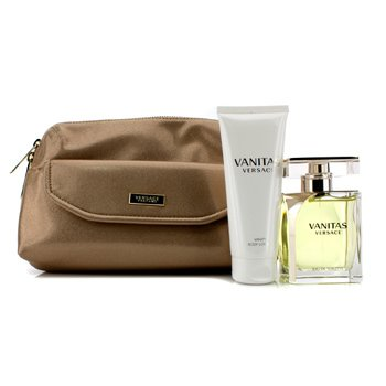 Versace Vanitas Coffret: Eau De Toilette Spray 100ml/3.4oz + Loción Corporal 100ml/3.4oz + Bolso  2pcs+1Bag