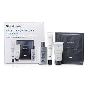 Skin Ceuticals Sistema Post Procedimiento: 1xHidra Bálsamo 50ml/1.67oz, 1xReparación Epidérmica 40ml/1.35oz, 1xDefensa UV SPF30 50ml/1.7oz, 2xMáscara  5pcs