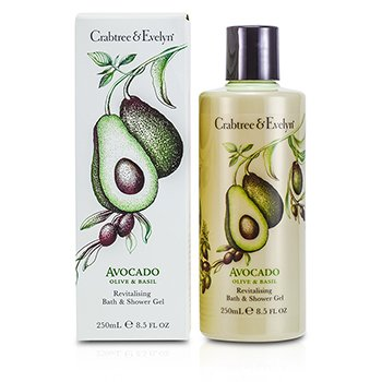 Crabtree & Evelyn Avocado, Olive & Basil Revitalising Bath & Shower Gel  250ml/8.5oz