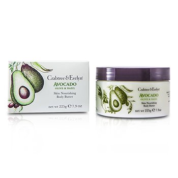 Crabtree & Evelyn Avocado, Olive & Basil Skin Nourishing Body Butter  225g/7.9oz