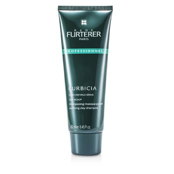 Rene Furterer Curbicia Purifying Clay Shampoo - For Oily Scalp (Salon Product)  250ml/8.45oz