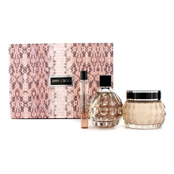Jimmy Choo Jimmy Choo Coffret: Eau De Parfum Spray 100ml/3.3oz + Crema Corproal Brillante 150ml/5oz + Eau De Parfum Roll On 10ml/0.33oz  3pcs