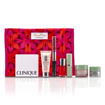 Clinique Zestaw: Moisture Surge + CC Cream + Eye Cream + Makeup Palette + Mascara & Lipgloss + Lipstick #15 + Nail Polish + Bag  7pcs+1bag