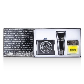 Moschino Forever Coffret: Eau De Toilette Spray 50ml/1.7oz + Bath & Shower Gel 100ml/3.4oz + Wallet  3pcs