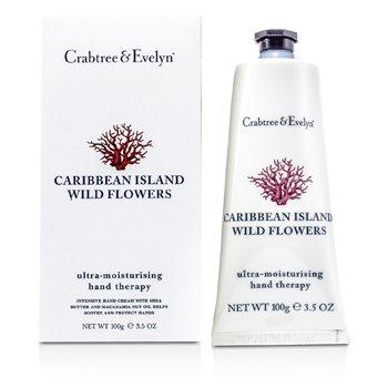 Crabtree & Evelyn Caribbean Island Wild Flowers Terapia de Manos Ultra Hidratante  100g/3.5oz