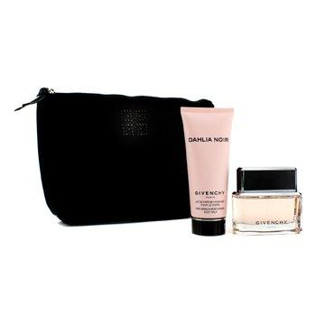 Givenchy Dahlia Noir Coffret: Eau De Parfum Spray 50ml/1.7oz + Leche Corporal 100ml/3.3oz + Bolso Negro  2pcs+1pouch