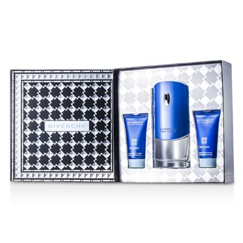 Givenchy Blue Label Coffret: Eau De Toilette Spray 100ml/3.3oz + Gel de Ducha 50ml/1.7oz + Bálsamo Para Después de Afeitar 50ml/1.7oz  3pcs