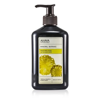 Ahava Mineral Botanic Velvet Loción Corporal - Tropical Pineapple & White Peach  400ml/13.5oz