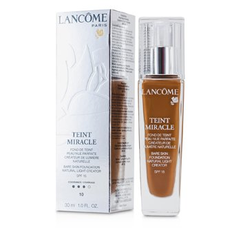Lancôme Teint Miracle Bare Skin Foundation Natural Light Creator SPF 15 - # 10 Praline  30ml/1oz