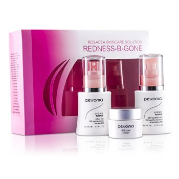 Pevonia Botanica Rosacea Skincare Solution Redness-B-Gone: RS2 Limpiador 50ml/1.7oz + RS2 Loci�n 50ml/1.7oz + RS2 Crema 20ml/0.7oz  3pcs