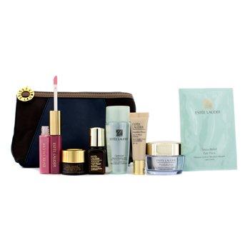 Est�e Lauder Kit de Viagem: Lo��o + Creme + ANR II + ANR Eye + Mascara Para Olhos + Base #36 + Gloss #04 & 26 + Necessaire  7pcs+1bag