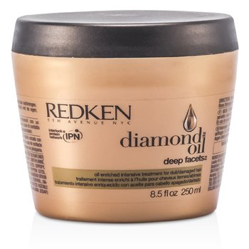 Redken Diamond Oil Deep Facets Oil Enriched Intensive Treatment (For Dull, Damaged Hair)  250ml/8.5oz