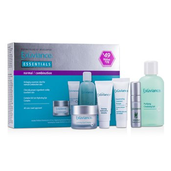 Exuviance Essentials Kit (Normal/ Combination): Cleansing Gel + Eye Complex + Masque + Evening Complex + Perfect 10 Serum  5pcs
